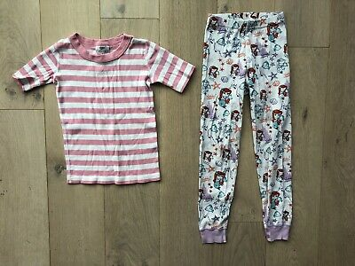 1b5be24825 Hanna Andersson Girls Size 120 6-7 Organic Pajamas Little Mermaid Pink  Stripes