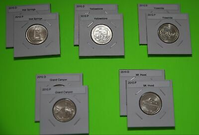 2010 PD America The Beautiful Quarters(ATB) 10 Coin Set-Mint Bags-Free Shipping