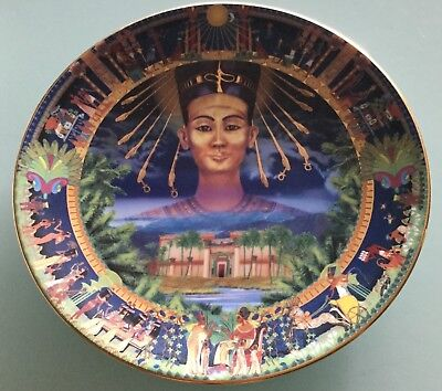 X6 Limited Edition Collector Display Plates - Egypt Nefertiti Cleopatra Sorcery