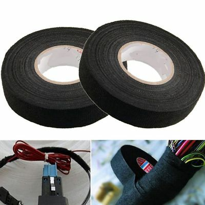 1/3 Rolls 19mm x 15m Adhesive Cloth Fabric Tape for Cable Looms Wiring Harness