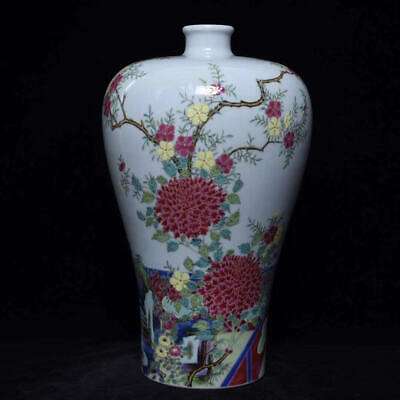 Chinese Exquisite Handmade colorful figure pattern porcelain vase