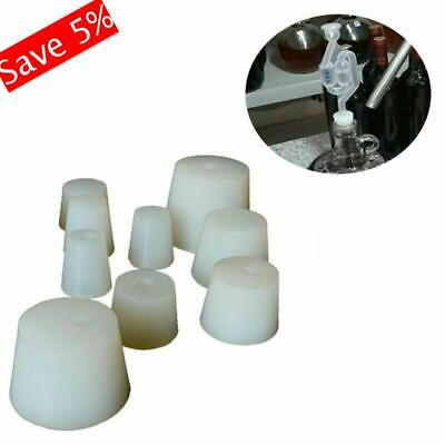 Bottle Plug Rubber Stopper with hole Bar Transfer Pipe Airlock Valve Bubbler