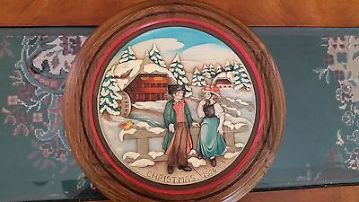 Anri wood carved plate - Christmas 1974 No. 1920 Christmas in the Black Forest