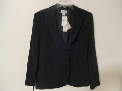 Small Motherhood Maternity Career Black Button Front Blazer Jacket Fully Lined
