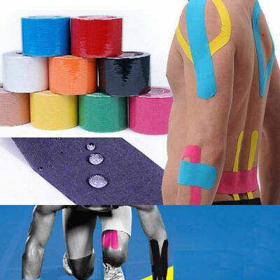 2.5/5cm Elastic Kinesiology Sports Tape Muscle Pain Care Therapeutic One Roll