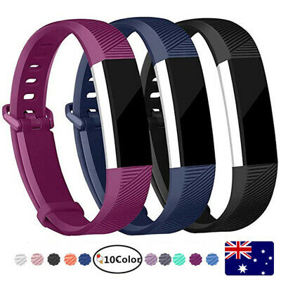 Replacement Band For Fitbit Alta HR Silicone Wrist Watch Band Secure Buckle AU