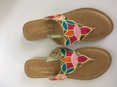 07e424ce1ea Coconuts by Matisse Women s Flat Sandals Thong Flip Flops Beaded Size 8M