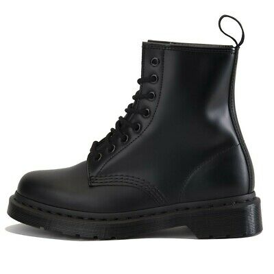 53fabbbd911 DR. MARTENS 1460 Mono 8 Eye Black Smooth Men's Leather Boot UK7/Mens  8/Womens 9