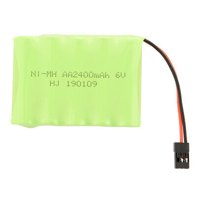 6V 2400mAh AA Ni-MH RX Receiver Flat Battery Pack for RC Futaba Cars Toys BC819