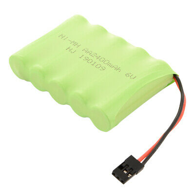 AA NI-MH 6V 2400mAh Rechargeable Flat Cell Battery Pack for RC Car Futaba BC819