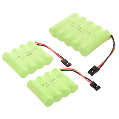 4.8V/6.0V 2400/2600mAh AA Ni-MH RX Receiver Flat Battery Pack for RC Futaba Cars