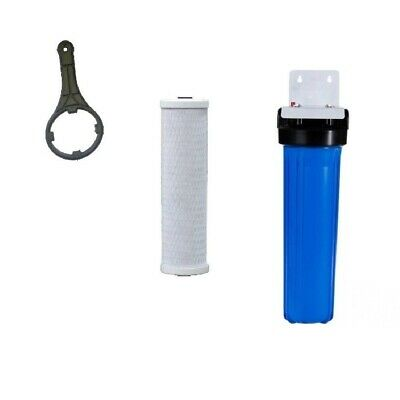 10' x 2.5' Whole House Water Services Filter System 10 Micron Carbon & Sediment