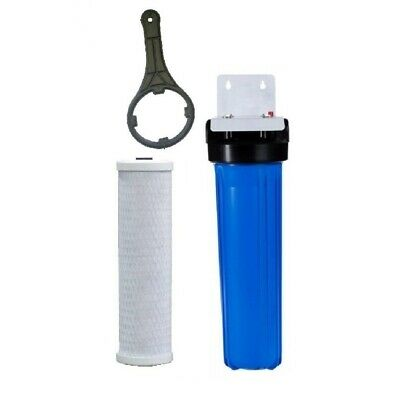 10' x 2.5' Whole House Water Services Filter System | 5 Micron Carbon & Sediment