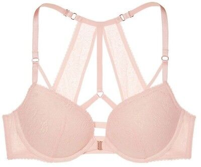 b1b1b6f1d5e8a VICTORIA S SECRET Very Sexy Push-up Front-Close Bra Pink Wildflower Lace  34D NEW