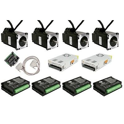 Free Ship 4axis NEMA23 Closed-Loop Stepper motor kits 2.9N.M 4A 425oz.in&Driver