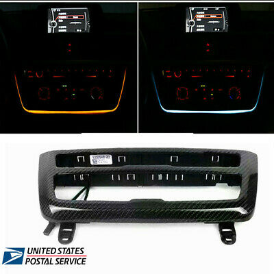 For BMW 3 & 4 Series F30 LED Dashboard  Console AC Panel Light Blue and Orange