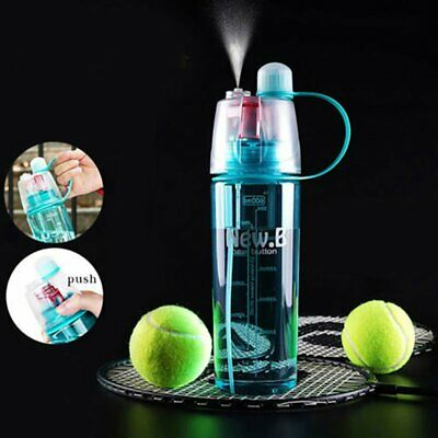400/600ml Protable Spray Water Bottle With Straw Cycling Outdoor Sport Leisure