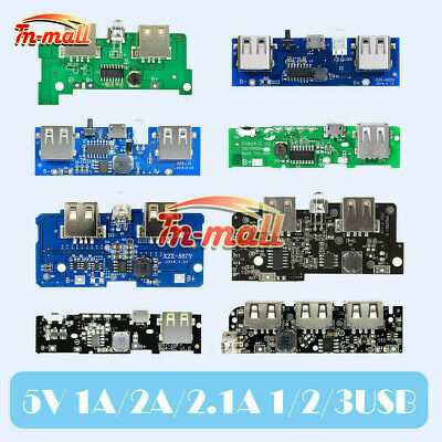 5V 1A/2A/2.1A Power Bank Charger Module Battery USB LED Boost Step Up PCB Board