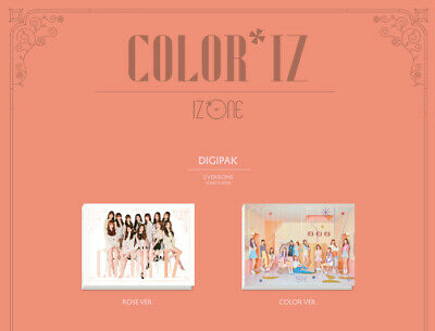 IZ*ONE-Color*IZ 1st Mini Album Random CD+PhotoCard+PhotoBook+JWY Poster