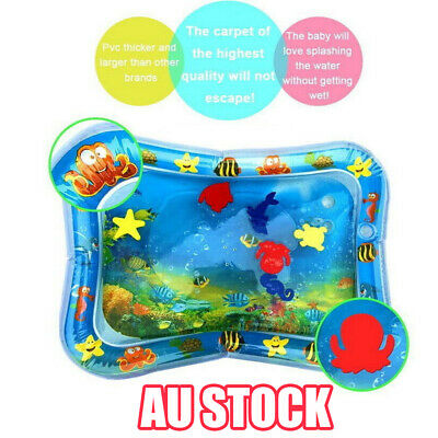 Inflatable Water Play Mat Infants Fun Tummy Time Kid Baby Play Activity Center E
