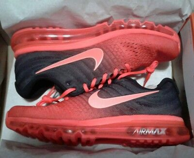 Details about Nike Air Max 2017 Bright Crimson Total Crimson Black SZ 12 ( 849559 600 )