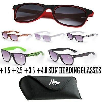 Unisex Sun Readers +1.0 +1.5 +2.5 +3.0 READING SUNGLASSES With Box ,Case,Cloth