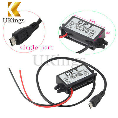 DC/DC Converter Module 12V To 5V 3A With Micro USB Output Power Adapter 15W
