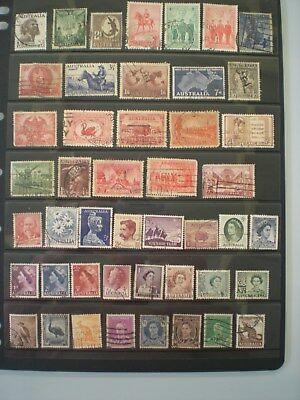 Australia Pre decimal stamps 46 stamps ALL DIFFERENT