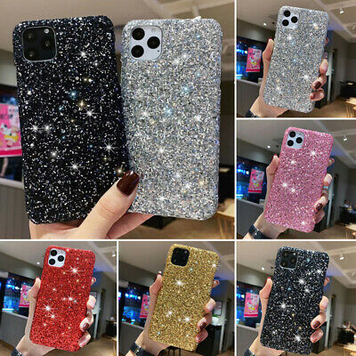 Case For iPhone 11 8 6s 7 XR XS Bling Glitter Sparkly Slim Skin Phone Cover Case