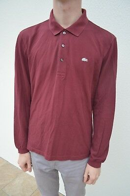 5ff2fe3c5f Polo lacoste manche longue taille 4 bordeaux M burgundy lacoste polo size  medium