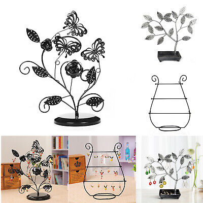 Butterfly Jewelry Display Stand Earrings Necklace Storage Rack Pendant Racks