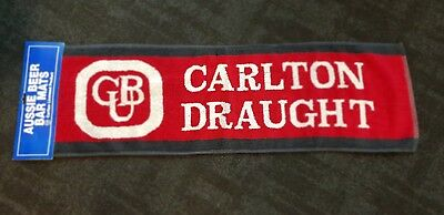 X2 New Carlton Draught Beer Runner cotton Towel Mats for Man Cave