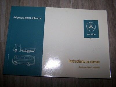 8F - Notice Manuel Instructions Mercedes benz Autocar Camionnette L 406 407 309