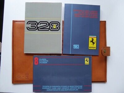 FERRARI 328 Bordmappe Schedoni Leather Wallet - Owners Manual Dealer Directory