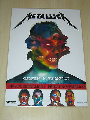 Metallica  -  Hardwired ... To Self - Destruct - Laminated Promo  Poster