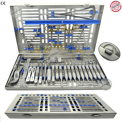 18 Pcs Advanced Implantology Kit Oral Surgery Dental Instruments Laboratory CE