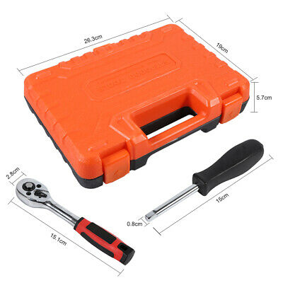 """46 pc 1/4"""" Drive Ratchet Wrench Auto Repair Tool Socket Set Combination Package"""