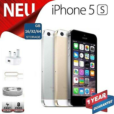APPLE iPHONE 5S 64GB 32GB 16GB - Unlocked / EE / O2 / Voda Mobile Smartphone