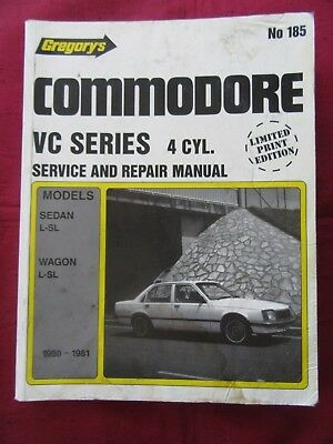 Holden Commodore VC Series 4 Cylinder Gregory's Service and Repair Manual