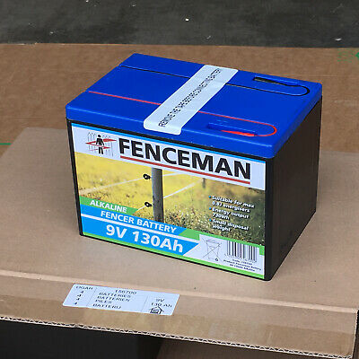 Electric Fence Forcefield Battery 9V Energiser Alkaline Long Life Spare 90Ah
