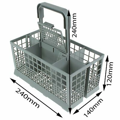 Universal Dishwasher Cutlery Basket Suits Brands 240mm X 135mm X 215mm Cage D @J