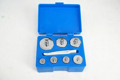 7pcs Set Include 10g 20g*2 50g 100g*2 200g 500g Calibration Weight With Box