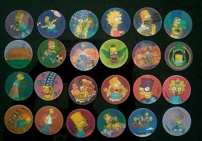 💥 24 THE SIMPSONS Tazos Hologram Disc - Collectors Item