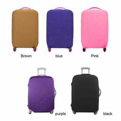 Travel High Elastic Solid Color Dust-proof Luggage Suitcase Protective Cover U@J