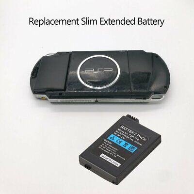 Replacement Slim Extended Battery Set+black Door Cover For Sony PSP 2000 3000 IW