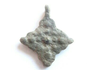 Late ROMAN PERIOD Early Christianity Bronze CROSS Amulet / Pendant - WEARABLE!