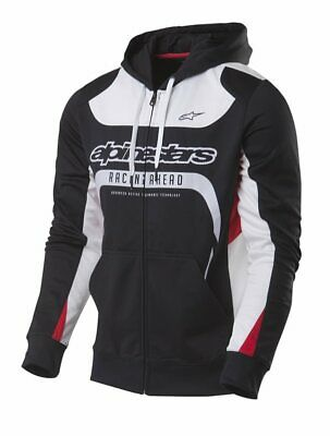 Alpinestars Session Fleece White Red Factory NEU MX Enduro Freizeit Hoody