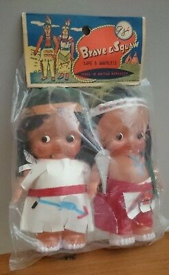 2 x Native American Indian Dolls-Brave & Squaw in Original packaging