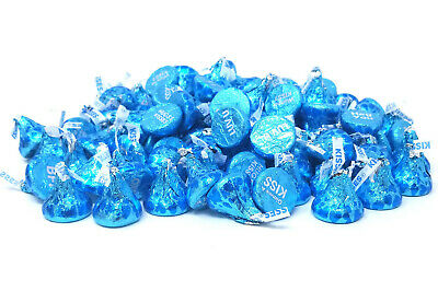 Hershey's Kisses Blue Conversation Milk Chocolate, Valentines Day Candy, 2 lbs