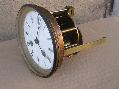 ANTIQUE FRENCH MANTEL CLOCK  MOVEMENT 19C. - Working